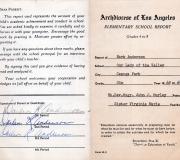 Mark's 6th Grade Report Card 1968