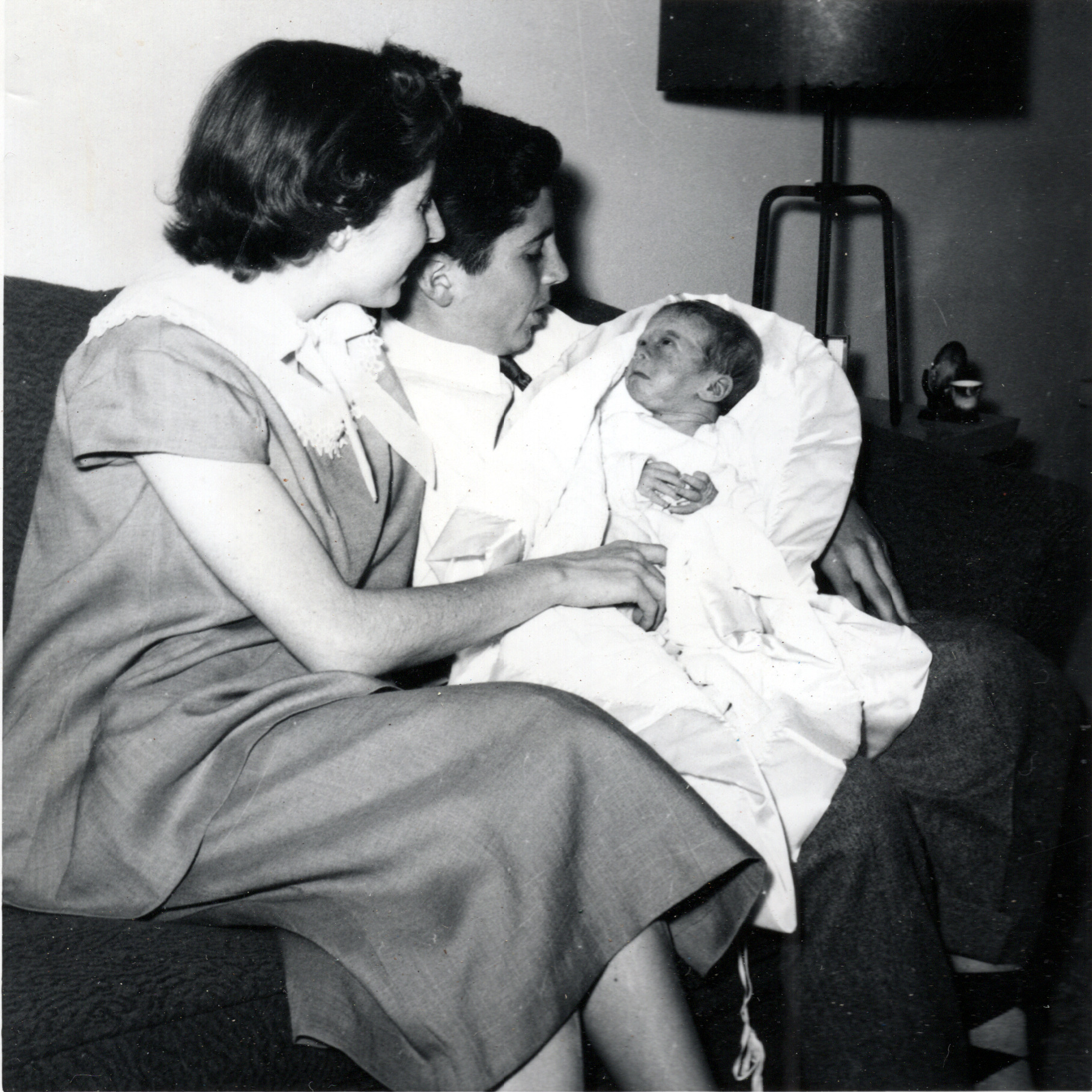 Buddy's Baptism - Shirley, Mike & Buddy - March 1956
