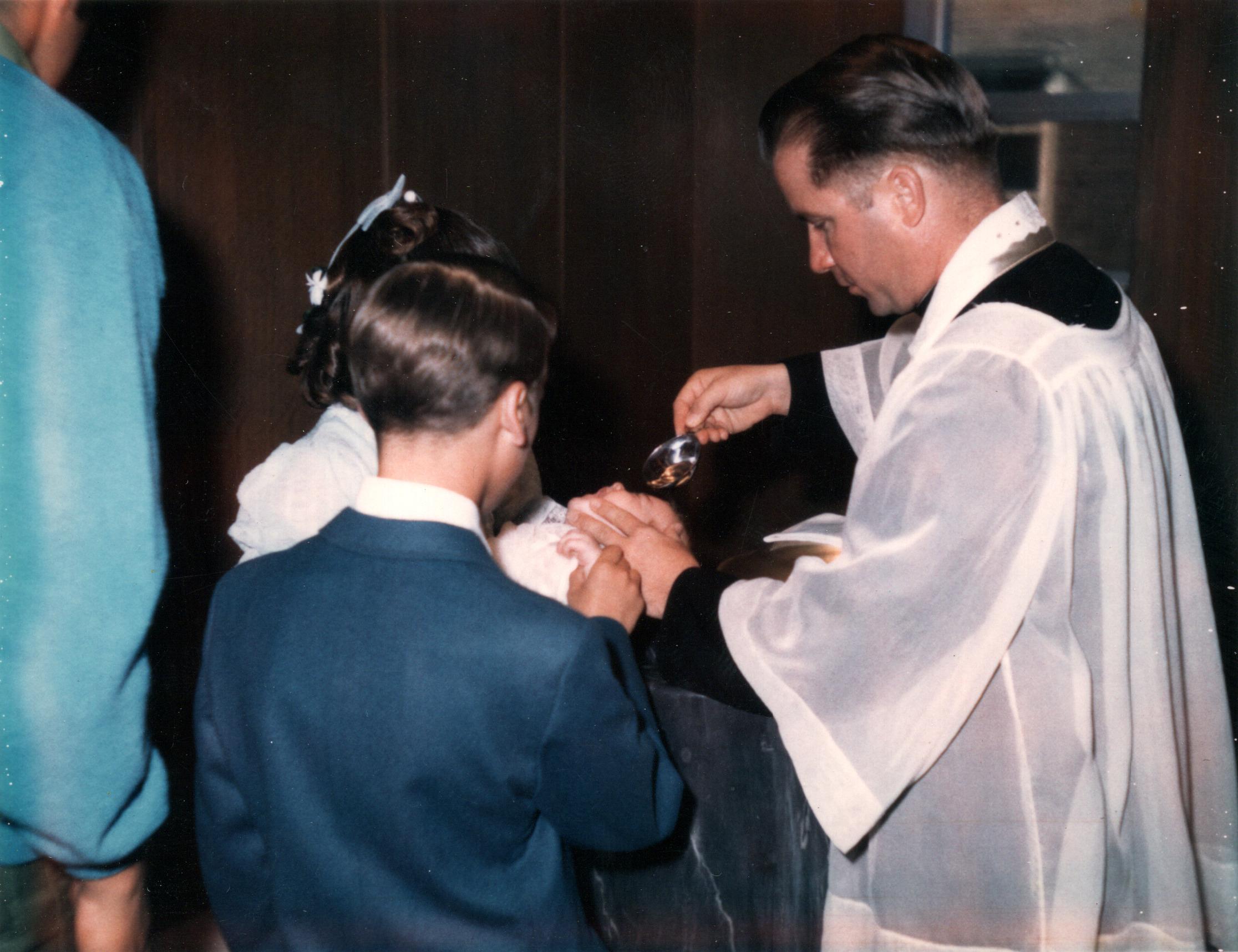 Peggy, Ken & Mark at Baptism