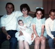 Ken's Baptism (Dad, Mom, Ken, Peggy & Mark)