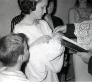 Mark's Baptism - Sue & Mark - May 1957