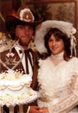 Buddy & Bonnie with Wedding Cake