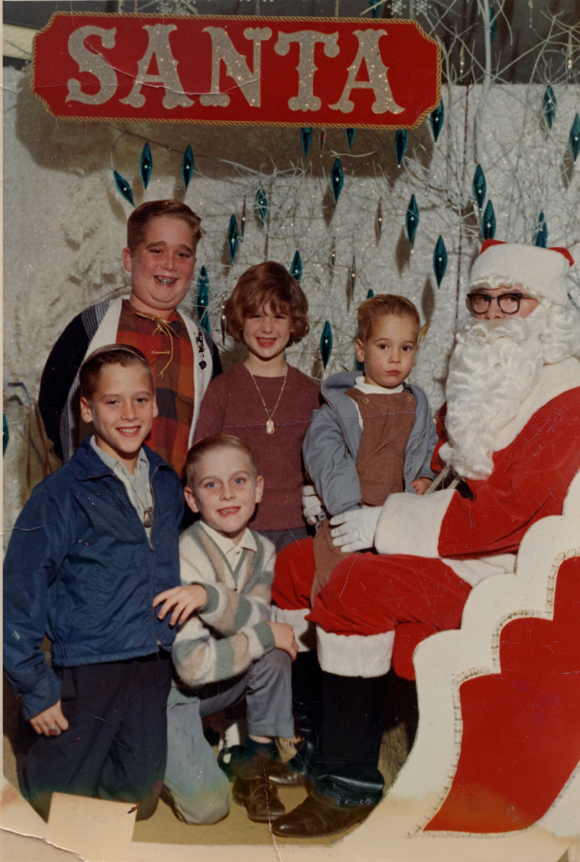 Buddy, Kim, Roger, Mark & Terry with Santa
