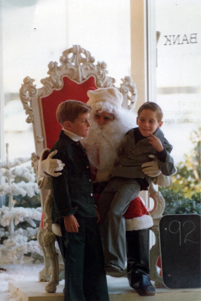 Ken & Tom with Santa
