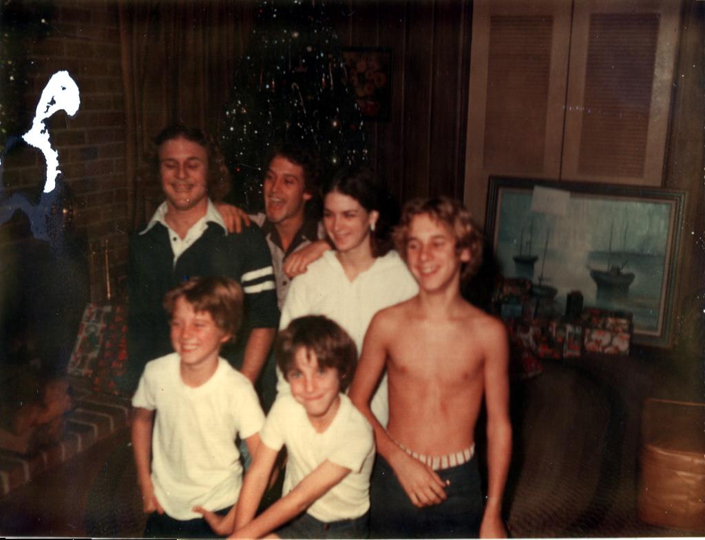 Terry, Mark, Kim, Roger, Tom & Ken at Christmas