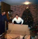 Terry & Dad at Christmas