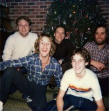 Terry, Mark, Buddy, Roger & Tommy at Christmas
