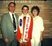 Dad, Ken & Mom at Confirmation
