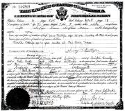 Henry Phillips US Citizen Certificate 09-19-1910