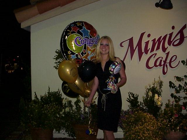 Jenna Arriving for Graduation Dinner