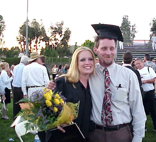 Jenna & Tom at Jenna's Graduation