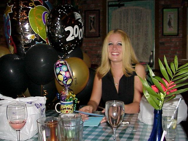Jenna at Graduation Dinner