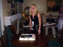 Jenna Cutting Graduation Cake