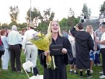 Jenna Shows Off Diploma