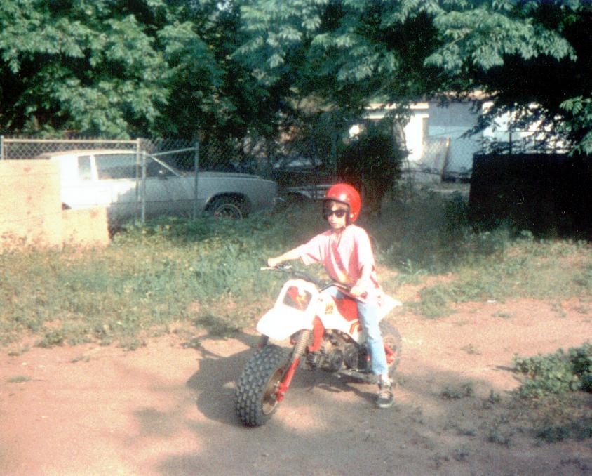 Johnny on Mini Bike