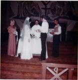 Kim & John at Wedding Alter