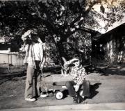 Ken & Tom with Wagon