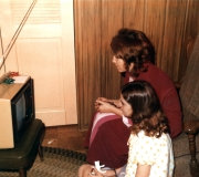 Mom & Kim with New TV
