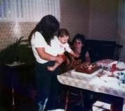 Bonnie, Brianne & Tom at Brianne's 1st Birthday