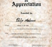 Buddy Certificate - 1968