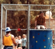 Dad in Police Academy Picnic Dunk Tank