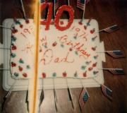 Dad's 40th Birthday Cake
