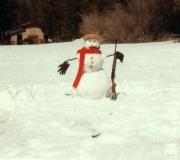 Frosty The Gun Toting Snowman in Big Bear