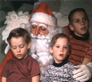 Ken, Tom & Roger with Santa