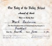 Mark Football Award 1970