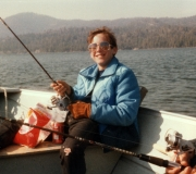 Tom Fishing at Big Bear