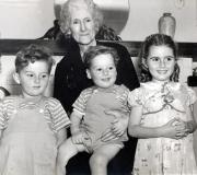 Great Grandma May Kloninger, Phil jr, Terry & Sheryl