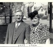 Philip & Augusta Fleischer at Bobs Baptism - Sept 1946