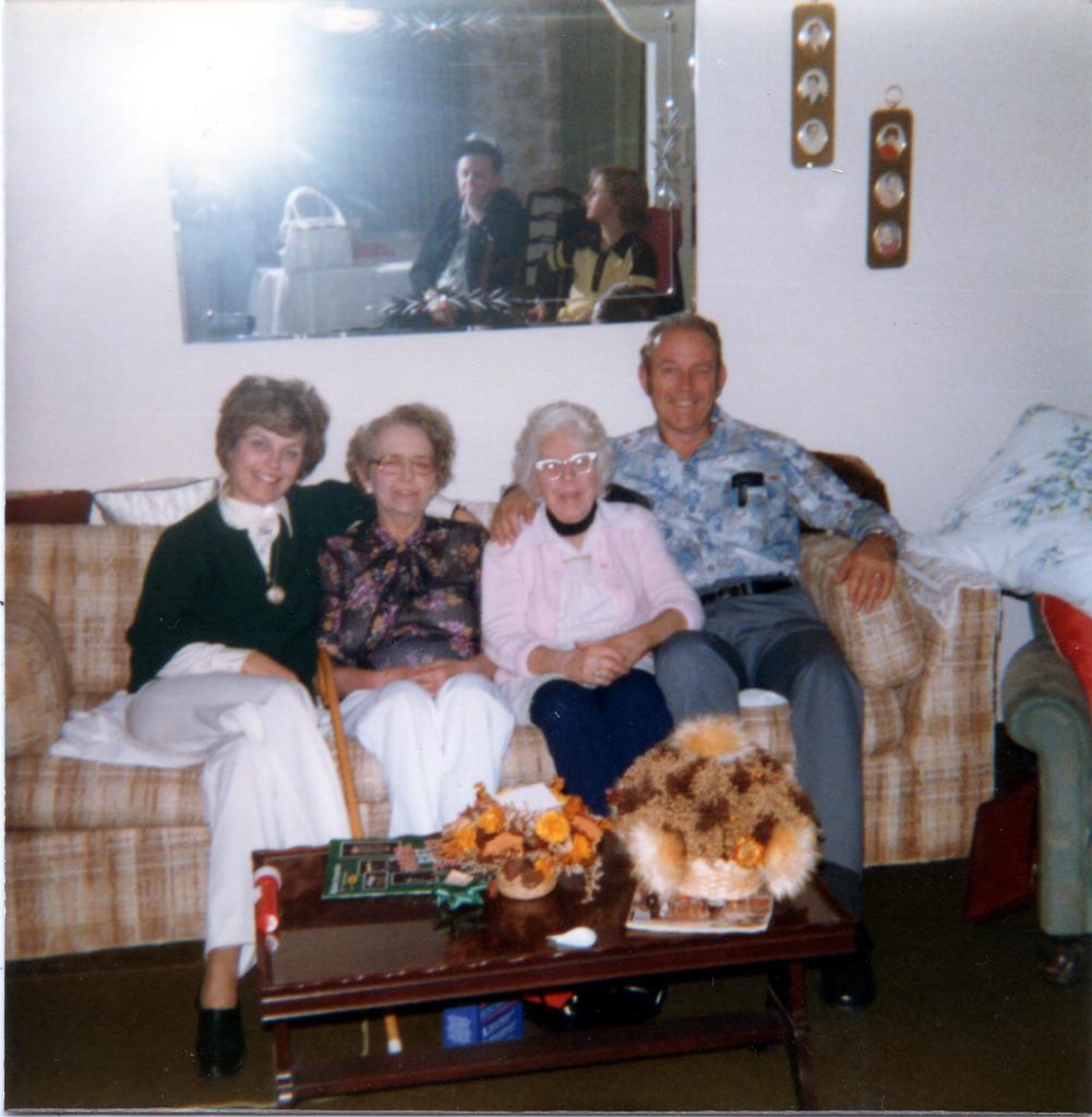 Darlene, Shirley, Gram & Bob at Gram's House