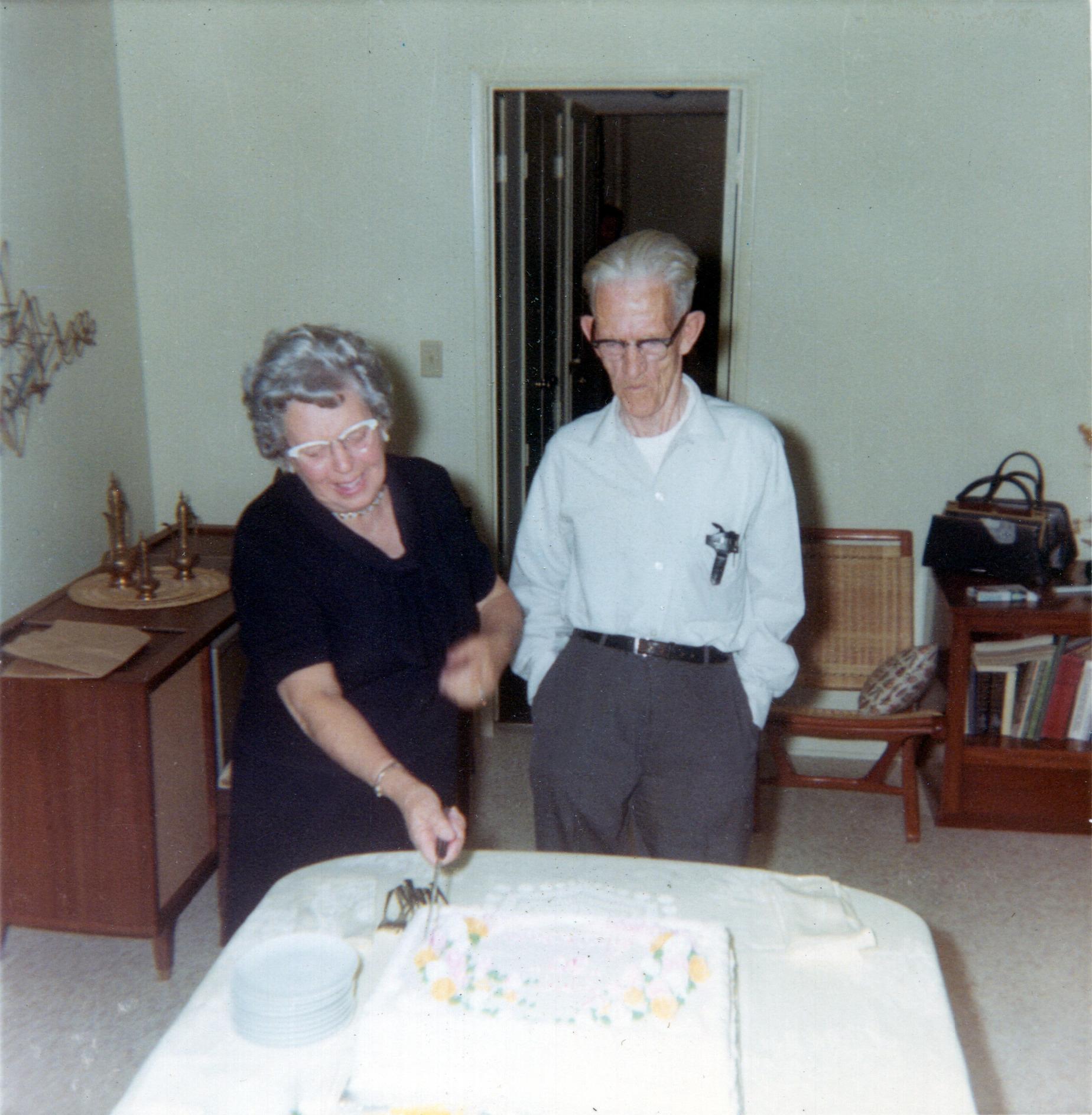 Gram & Grandpa Anniversary Cake