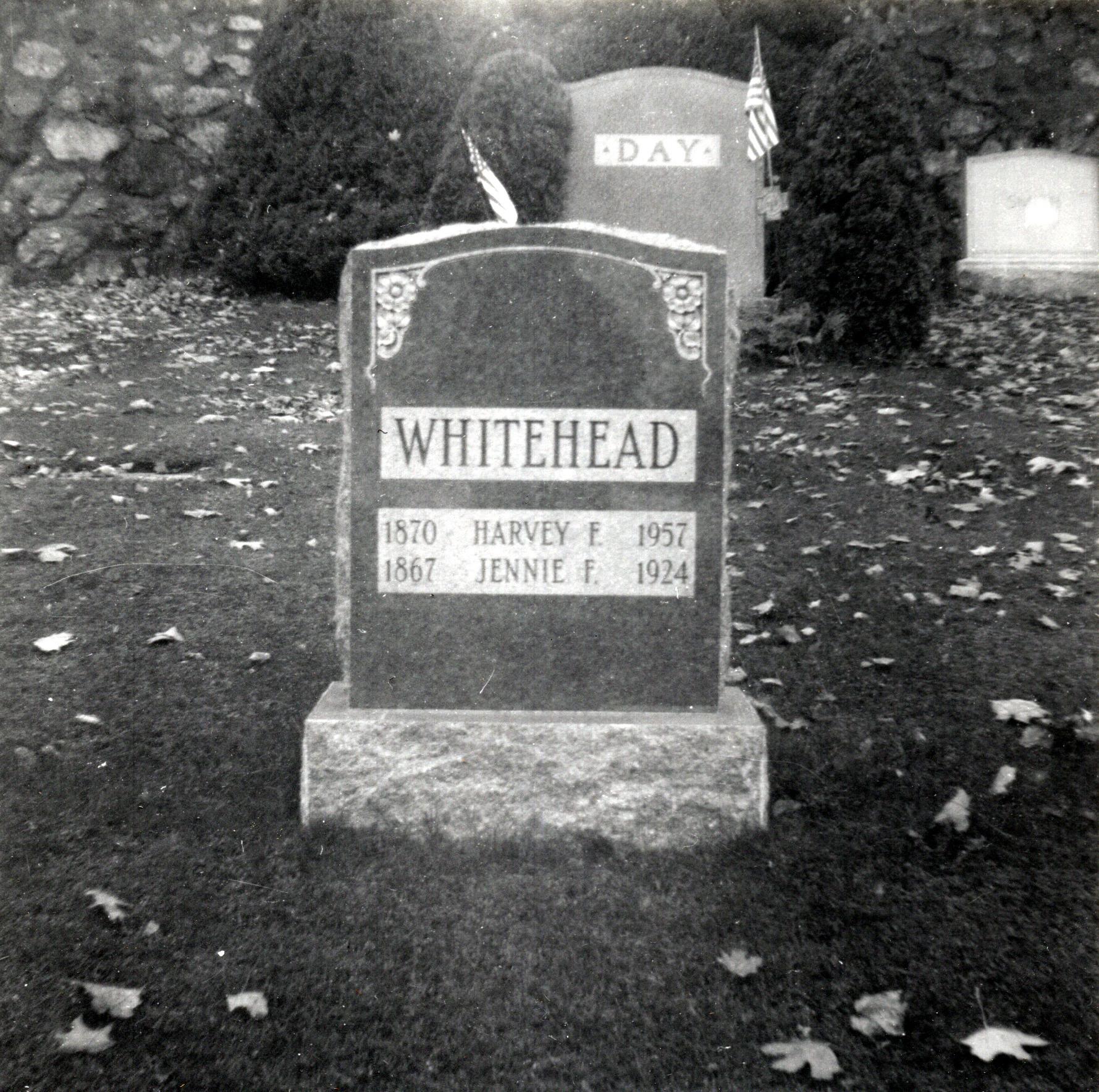 Harvey & Jennie Whitehead Headstone