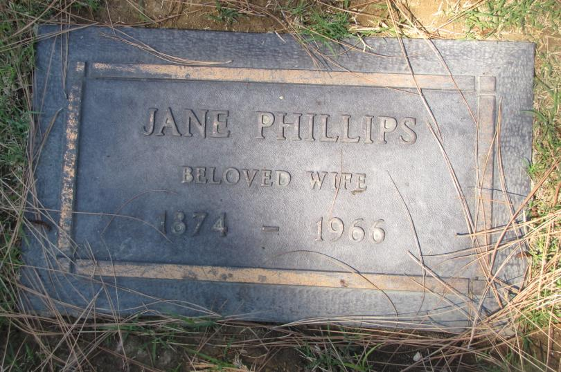 Jane Phillips Headstone