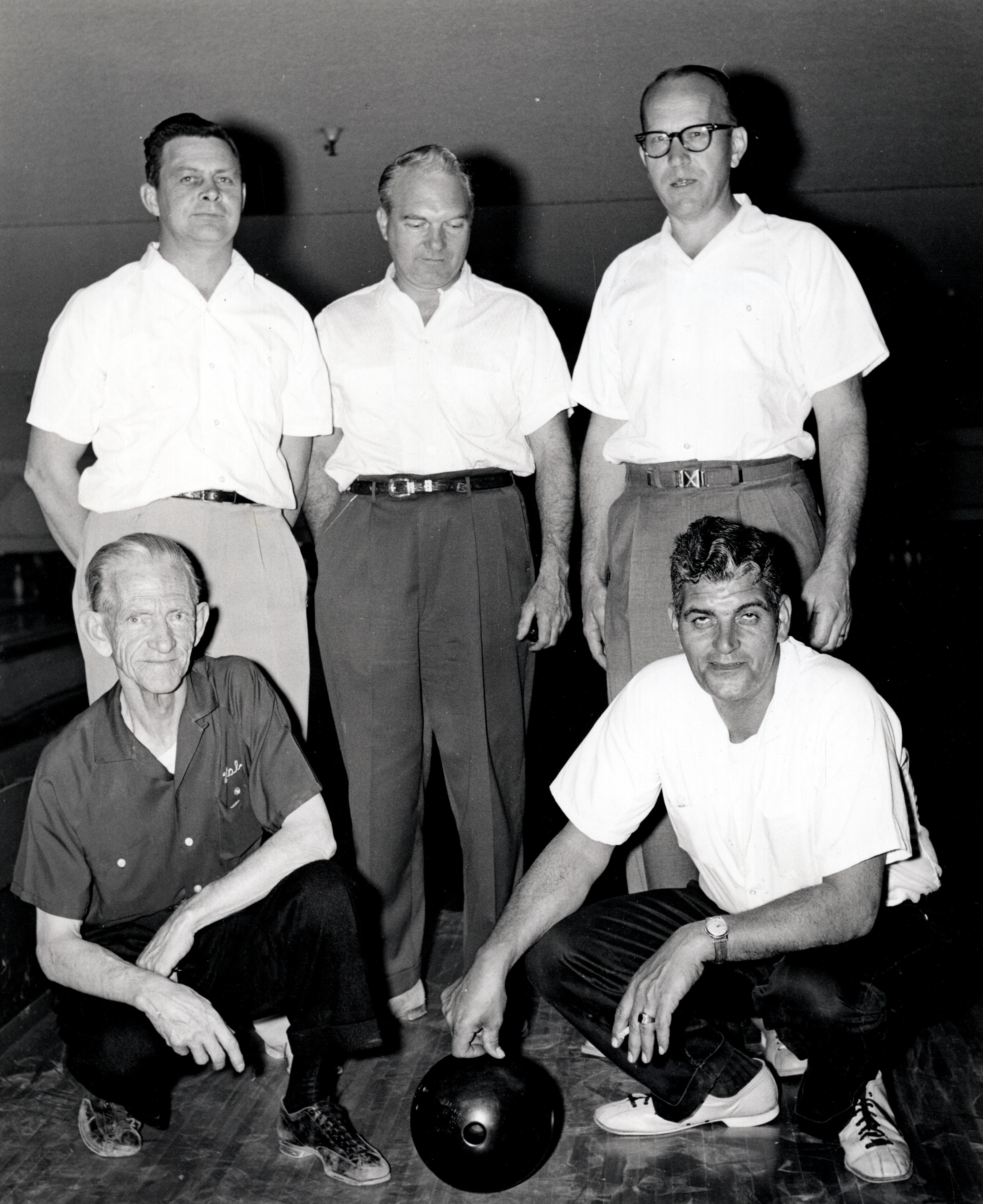 MGM Bowling Team - Harold Phillips (front left)