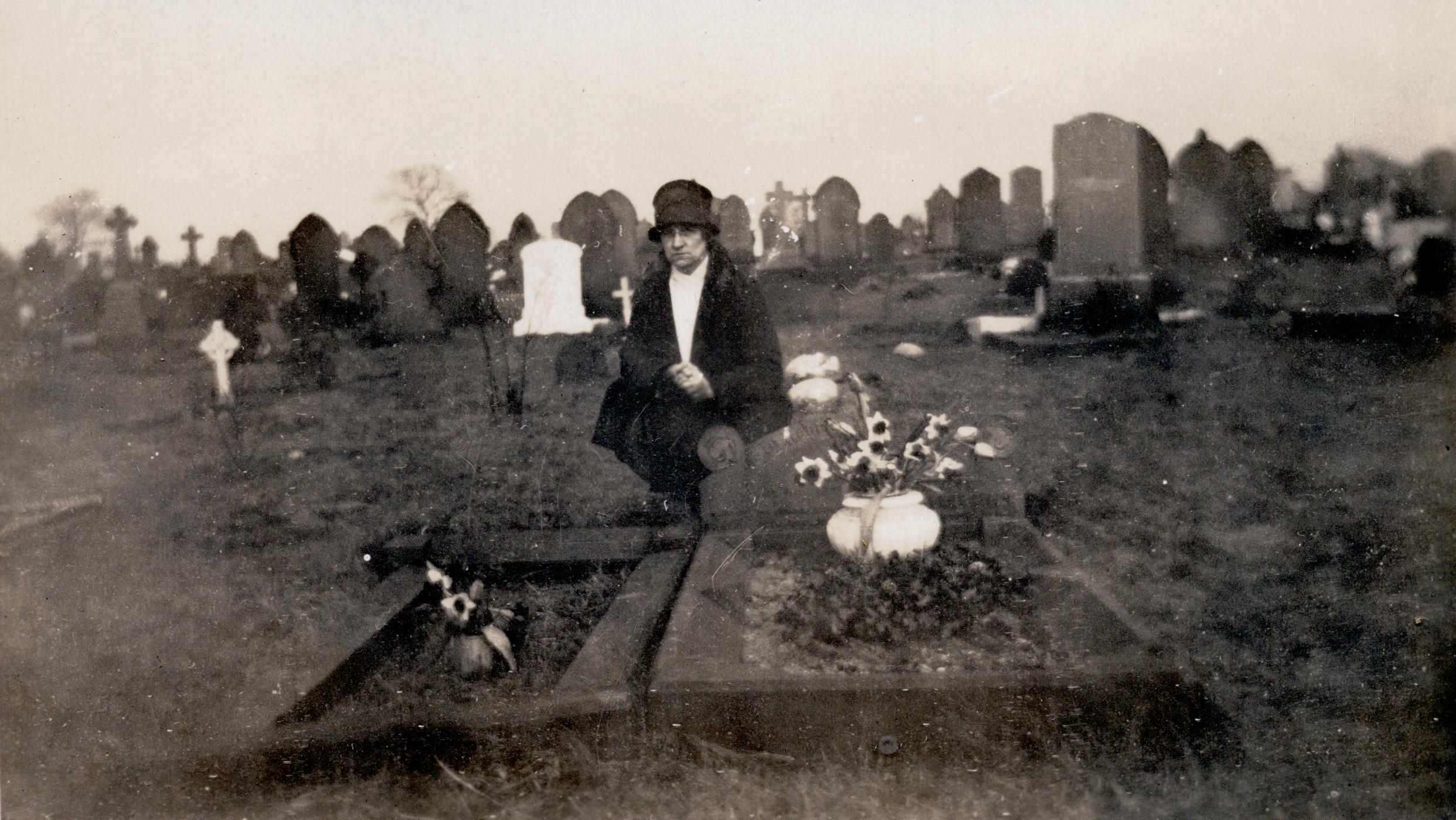 Nancy Fletcher at Parent's (Samuel & Sarah) Grave (Burnley Lancashire)