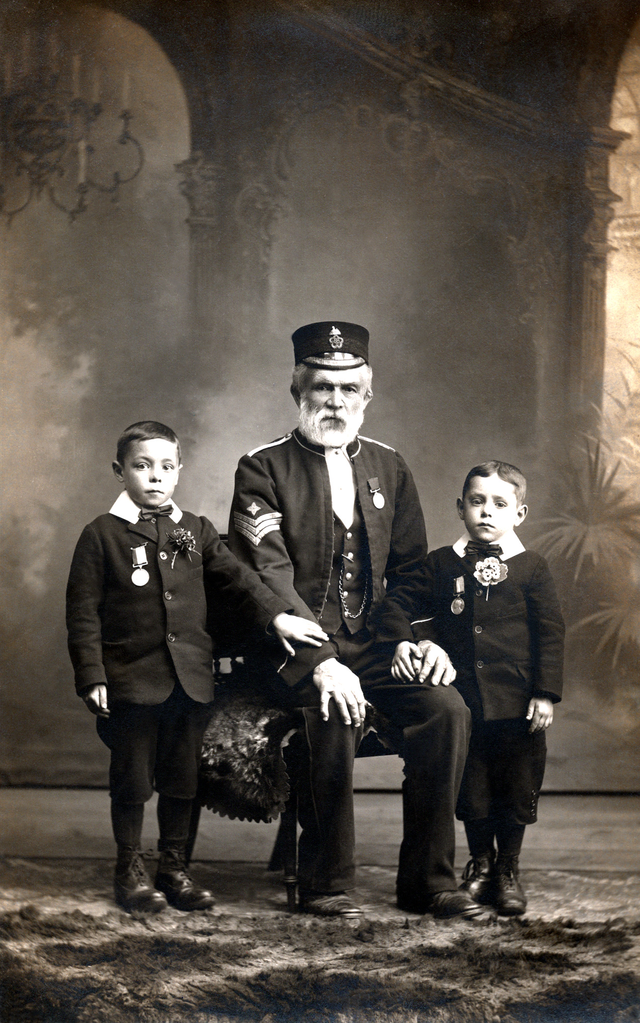 Thomas Phillips with Sons Thomas Jr (Left) & Henry