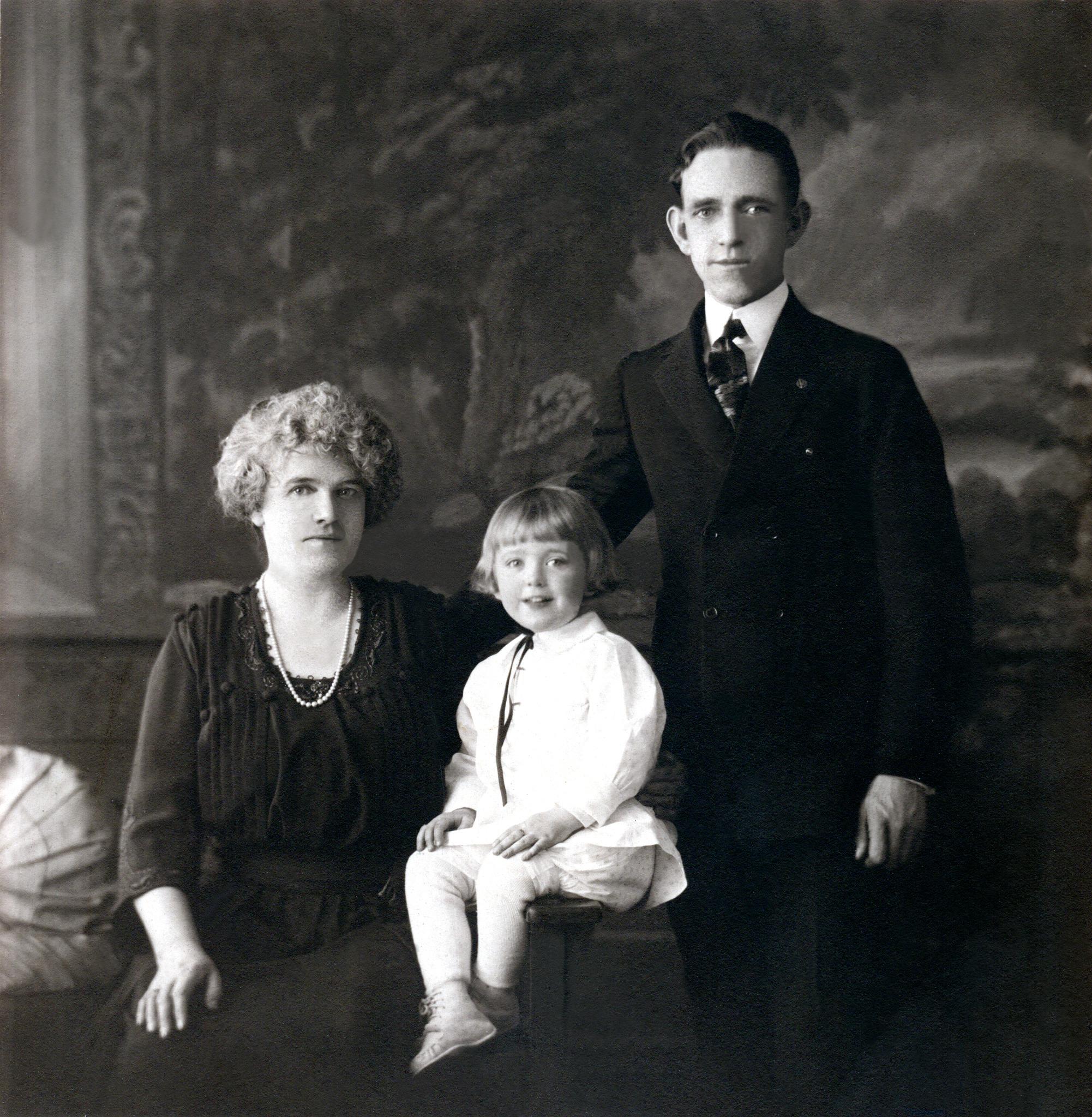 Three Generations (Jane, Shirley & Harold Phillips)