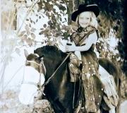 Darlene on Horseback