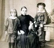 Sarah Fletcher with Unidentified Children
