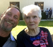 Tom & Aunt Melba at Her 90th B-day Bash 11-04-17