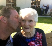 Tom Showing Aunt Melba Some Love at Her 90th B-day Bash 11-04-17