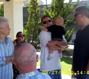 Mom, Sean, Dads bald spot, John, Gavin & Ken