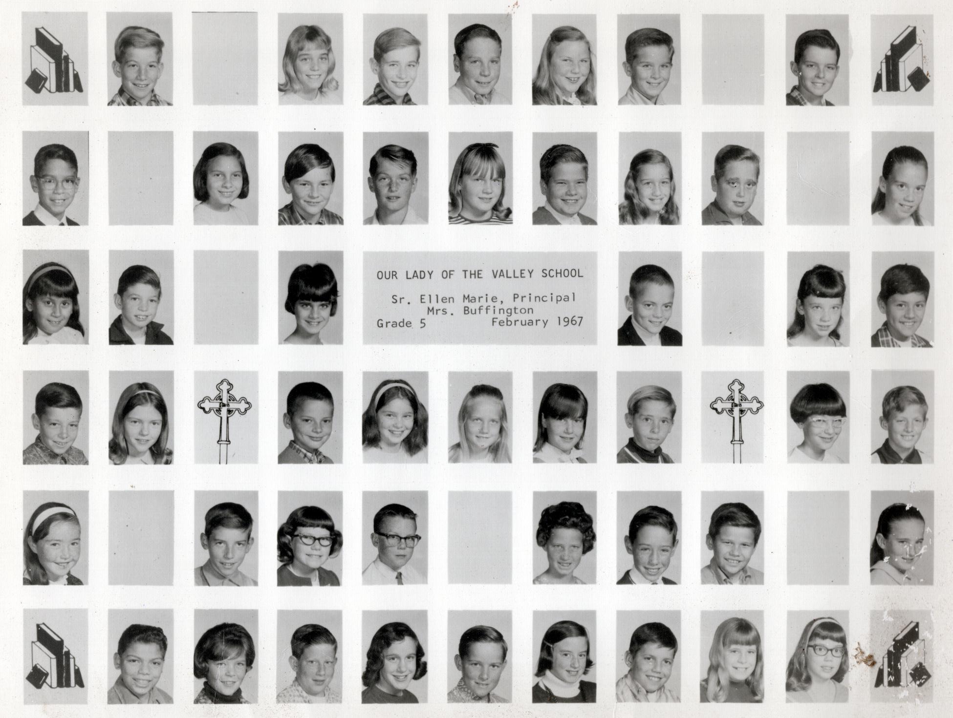 Buddy's 5th Grade Class OLV - 1967