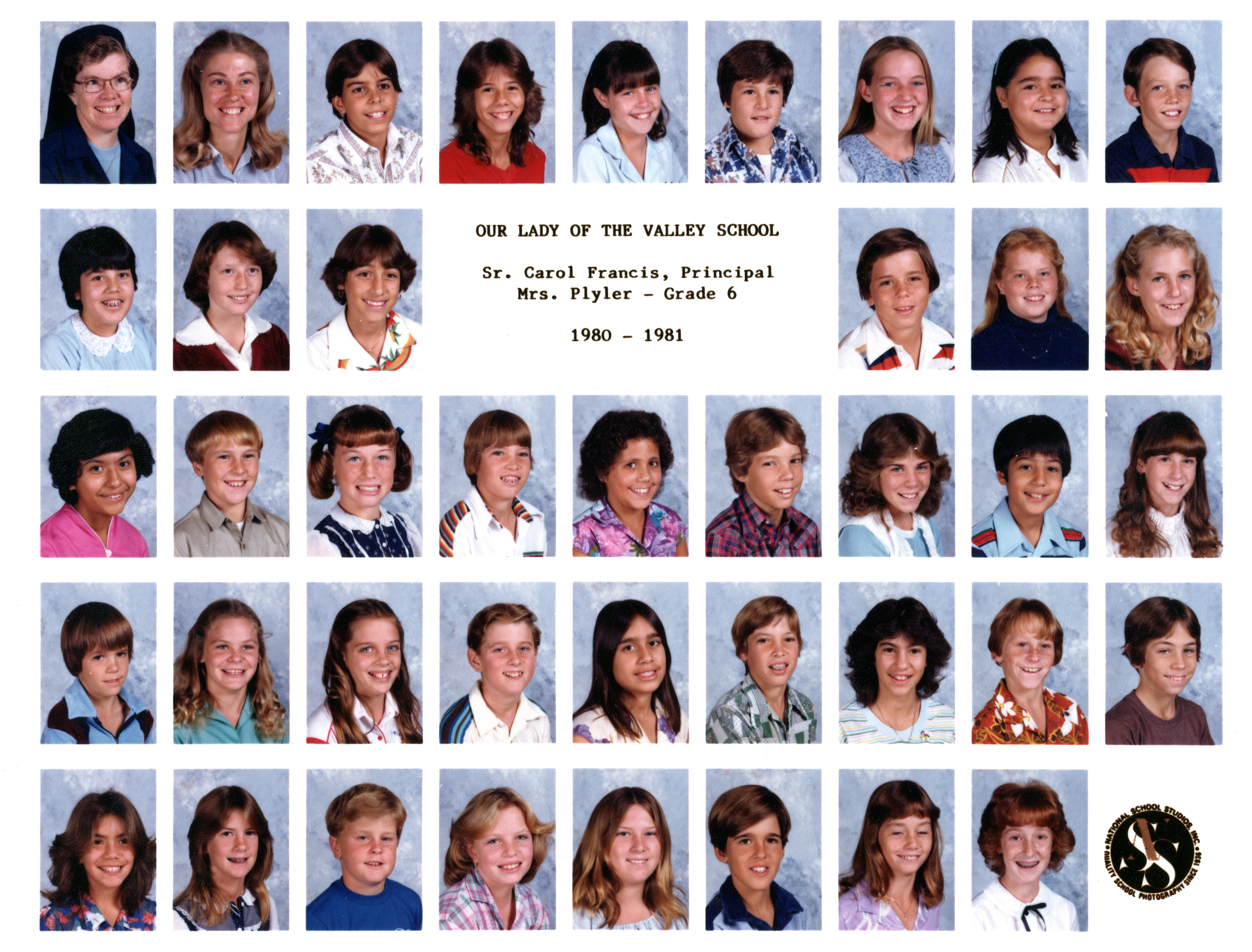 Ken 6th Grade Class 1980