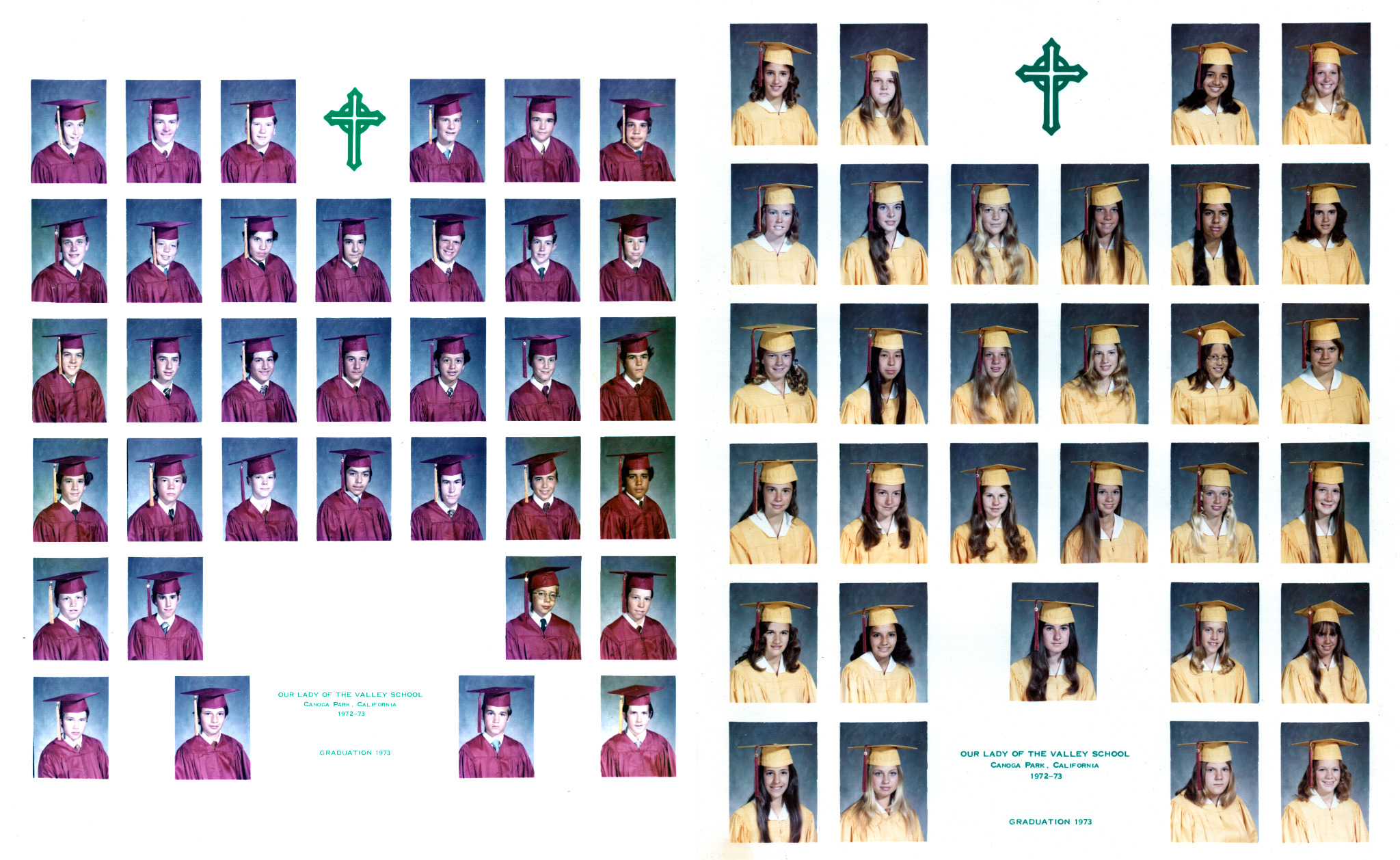 Terry's 8th Grade Graduation Class 1972
