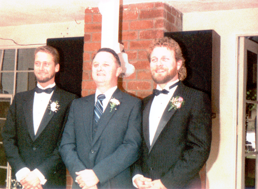 Mark, Dad & Terry at Terry's Wedding