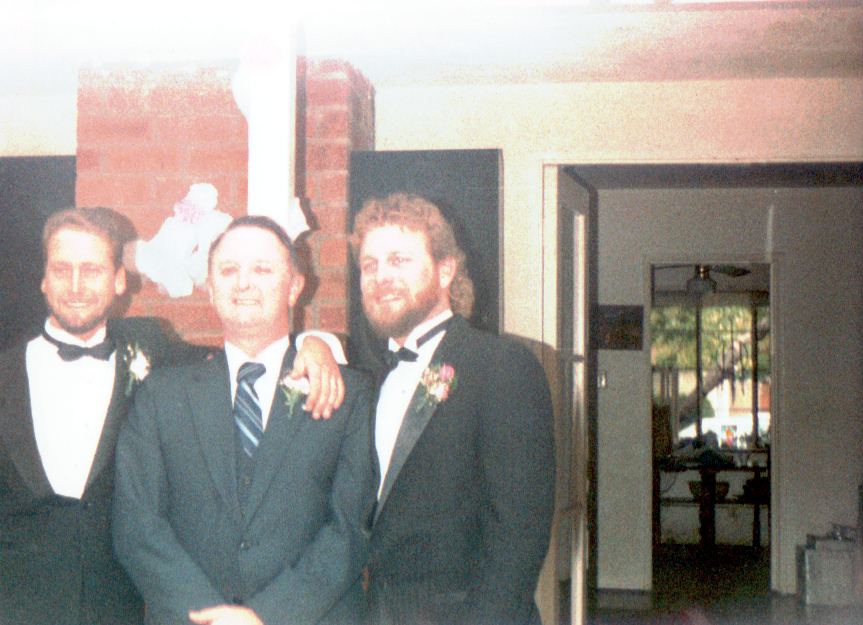 Mark, Dad & Terry at Terrys Wedding